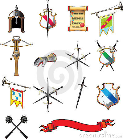 Positionnement médiéval de graphisme d arme