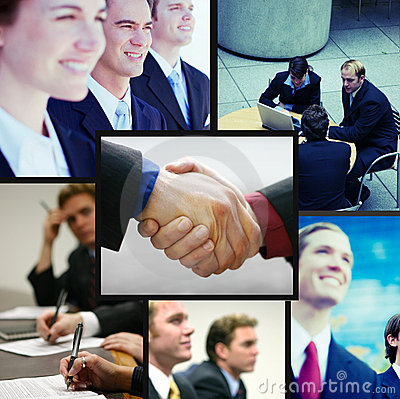 Positive business collage