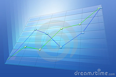 Positive business trend chart