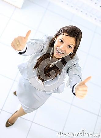 Positive business woman