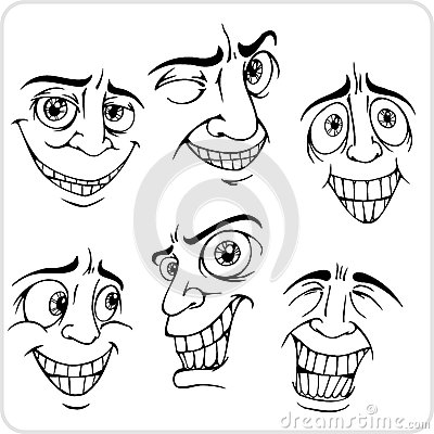 Positive emotions - vector set.
