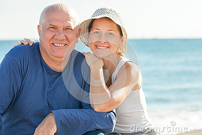 Positive mature couple