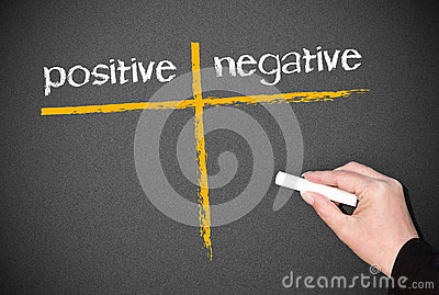 Positive and negative evaluation