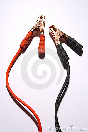 Positive And Negative Jumper Cables