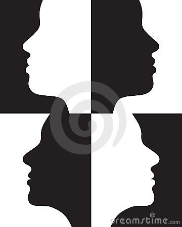 Positive and negative silhouettes