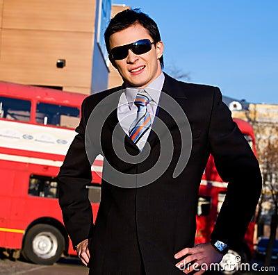 Positive portrait of young businessman
