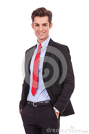 Positive and relaxed business man