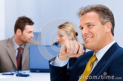 Positive senior businessman