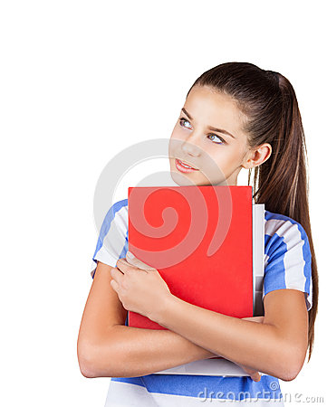 Positive student girl