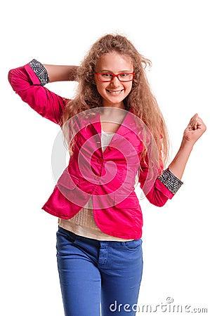 Positive teen girl
