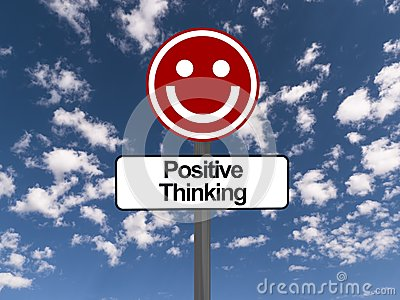 Positive thinking sign