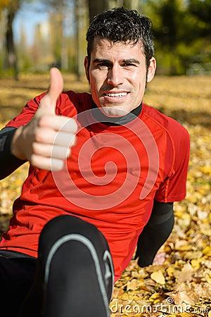 Positiver Athlet