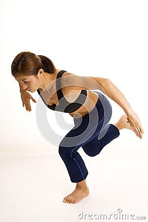 Posizione accoccolata monca di una gamba 2