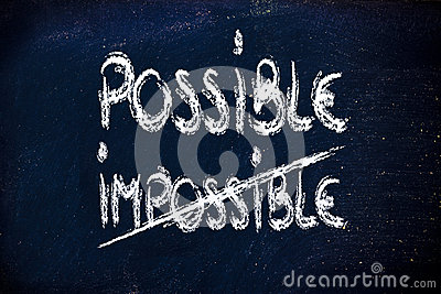 Possible vs. impossible, challenge concepts on blackboard