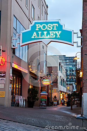 Post Alley in Seattle Washington Editorial Stock Image