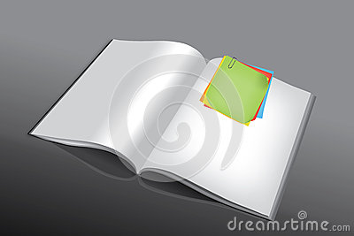 Post-it on book