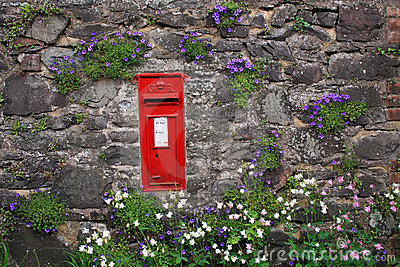 Post box in a wall on Exmoor