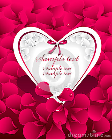 Post card or frames or banners with  heart, red  p