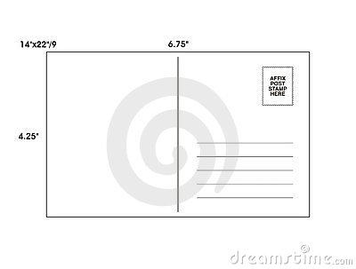 Post Card Template - Vector