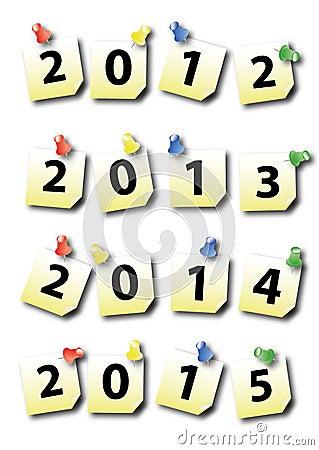 Post-It des neuen Jahres