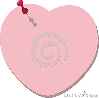 Post-it di figura del cuore