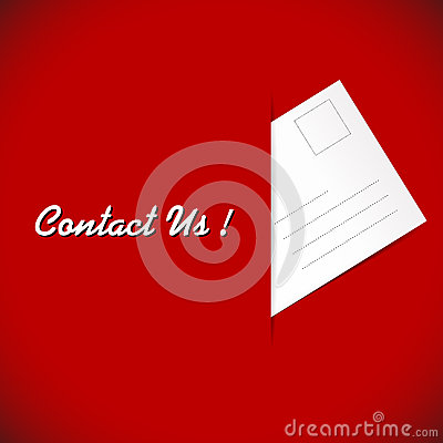 Free Post Envelope On The Red Background Stock Photos - 37636503