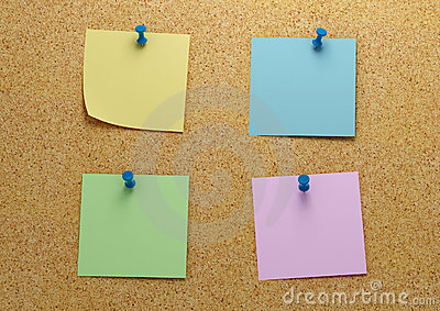 Post It Four Stock Photography - Image: 3769052