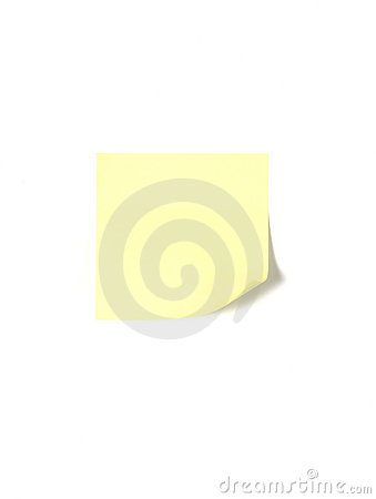 A post it isolated on white