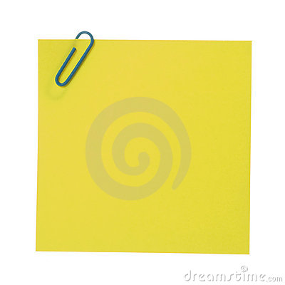 Free Post-It Note & Clip. Stock Image - 3042531