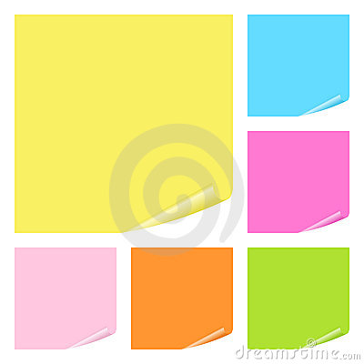 Free Post It Notes Set Stock Photo - 18995710