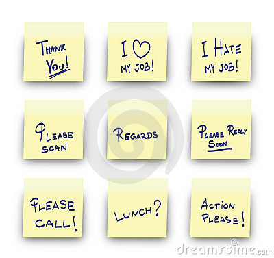 Free Post-It Office Messages Royalty Free Stock Photo - 14047865