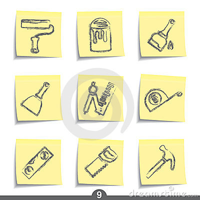 Free Post It Series - Diy And Decorating Royalty Free Stock Photo - 13614195