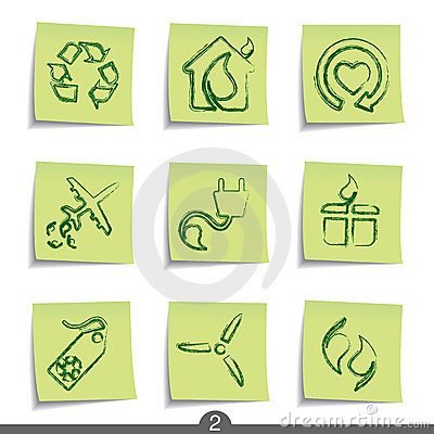 Free Post It Series - Ecology Royalty Free Stock Photography - 13614077