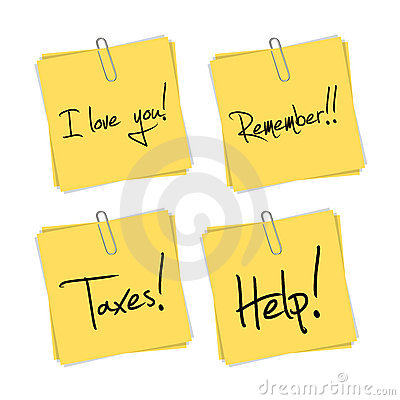 Free Post It Set With Text Vector Stock Image - 10843261