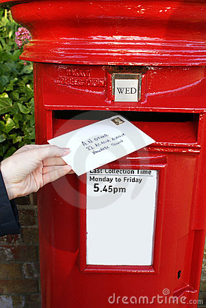 Post Letter In Mailbox Royalty Free Stock Photos Image