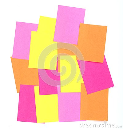 post-it   memo isolated on white