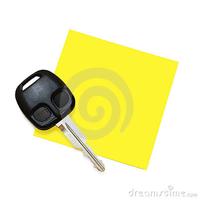 Post-It Note with Key