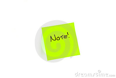 Post-it with NOTE written on it