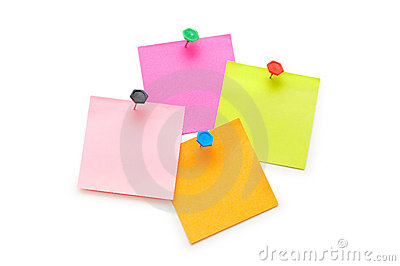 Post-it notes isolated