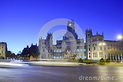 Post Office Building and fountian at Cibeles Square