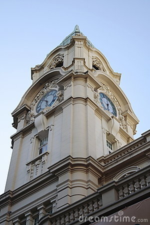 Free Post Office Clock Tower - Porto Alegre - Brazil Stock Photography - 381082