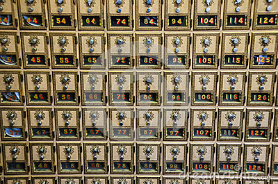 Post Office Combination Lock Boxes