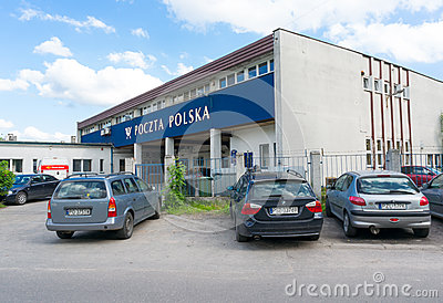 Post office parked cars