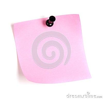 Post-it rosado