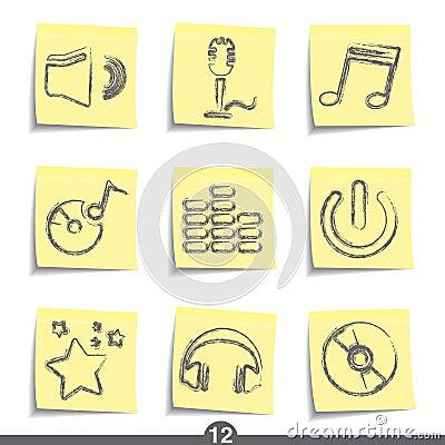Post it series - music