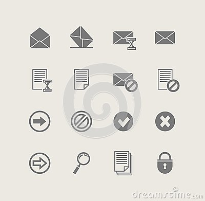 Post. set of simple icons