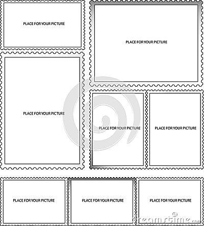 Post stamp frames
