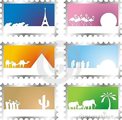 Free Post Stamps Stock Image - 6298491
