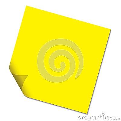 Post it yellow drop shadow