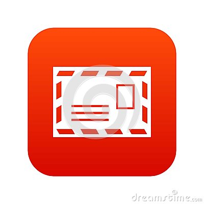Free Postage Envelope With Stamp Icon Digital Red Stock Photography - 101728222